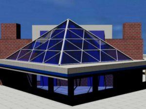 طرح سازه هرمی دو جداره