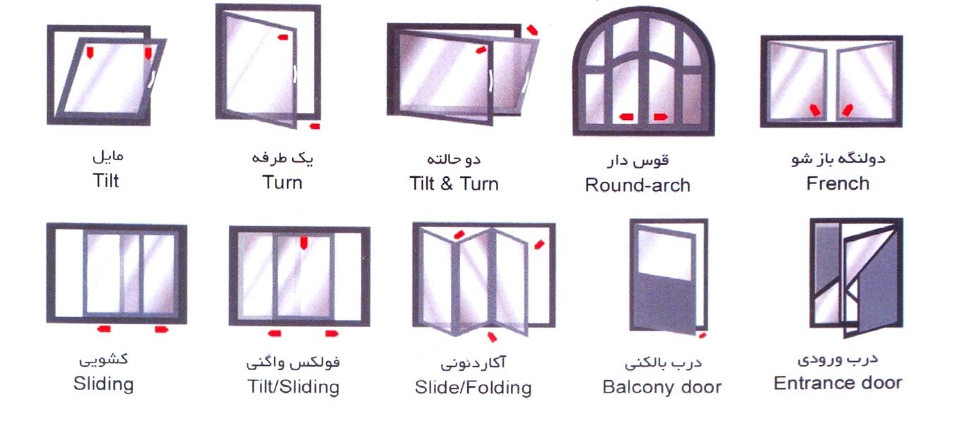 مدلهای پنجره upvc